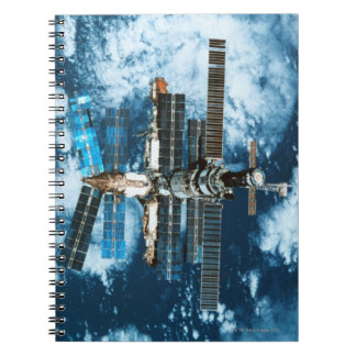 Space Station Orbiting Earth Notebooks