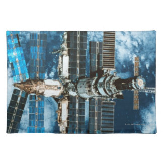 Space Station Orbiting Earth Placemat