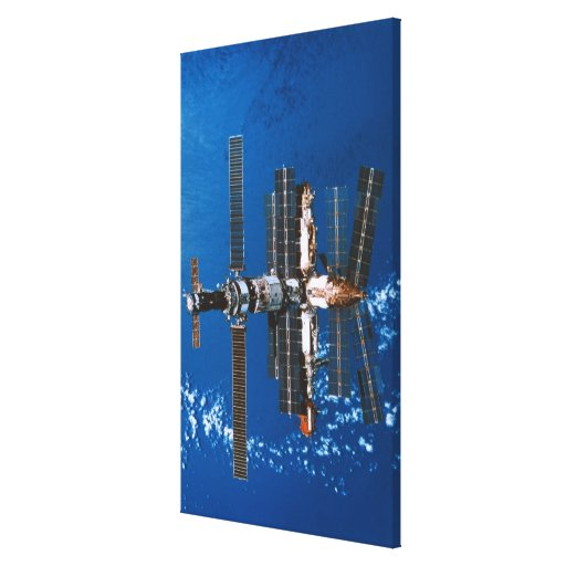 Space Station Orbiting in Space Gallery Wrapped Canvas