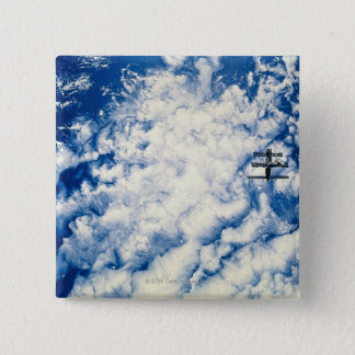 Space Station over the Pacific 15 Cm Square Badge