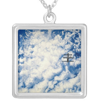Space Station over the Pacific Silver Plated Necklace