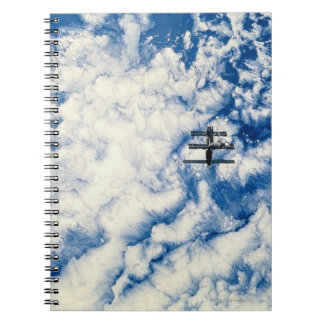 Space Station over the Pacific Spiral Notebook