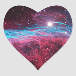 Space Heart Stickers