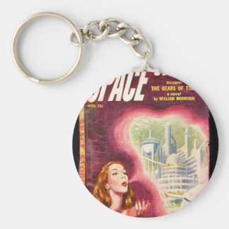 Space Stories v02 n01 (1953-04.Standard)_Pulp Art Basic Round Button Key Ring