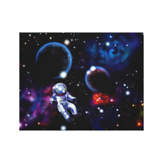 Space Stretched Canvas Print