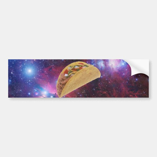 Space Taco Bumper Sticker
