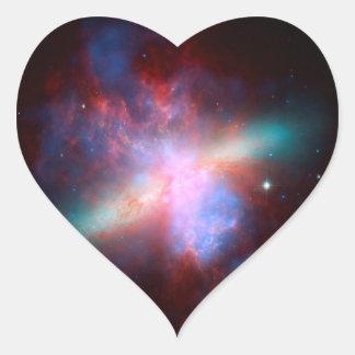 Space Telescopes Showing Stunning View Starburst Heart Sticker