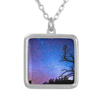 Space The Final Frontier Square Pendant Necklace