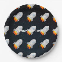 Space themed party personalised paper plate