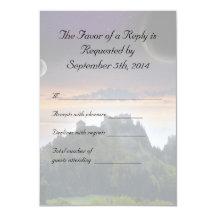 Space Themed Wedding RSVP 9 Cm X 13 Cm Invitation Card