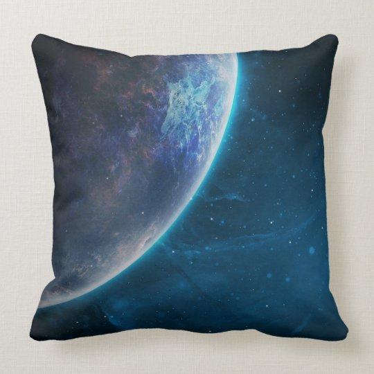 Space throw pillow. cushion