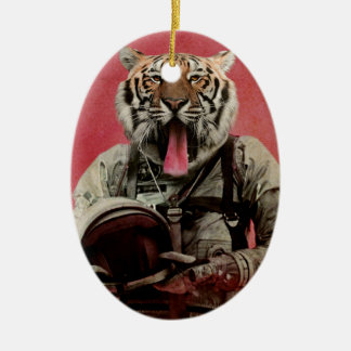 Space tiger christmas ornament