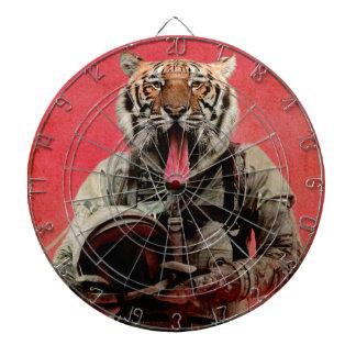 Space tiger dartboard