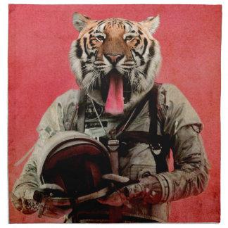 Space tiger napkin
