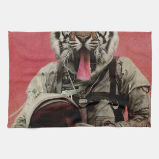 Space tiger tea towel