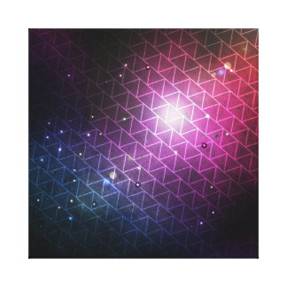Space Time Geo Stretched Canvas Print
