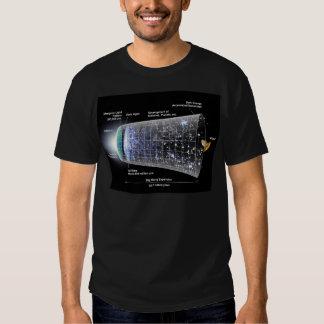 Space timeline big bang explosion t shirts