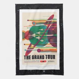 Space Tourism Advert - Solar System Grand Tour Tea Towel