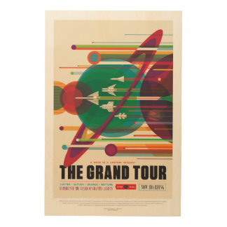 Space Tourism Advert - Solar System Grand Tour Wood Wall Art
