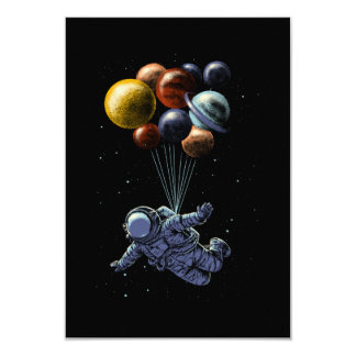 Space travel 9 cm x 13 cm invitation card