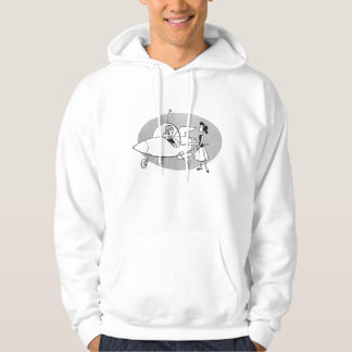 Space Travel for Gals Vintage Ad Hoodie