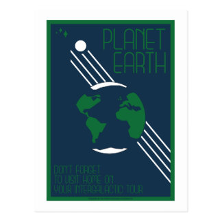 Space Travel Postcard -Earth