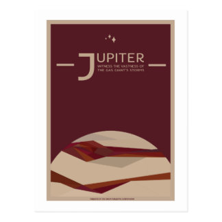 Space Travel Postcard - Jupiter