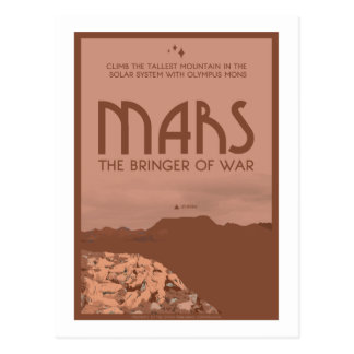 Space Travel Postcard - Mars