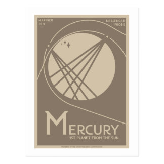 Space Travel Postcard - Mercury
