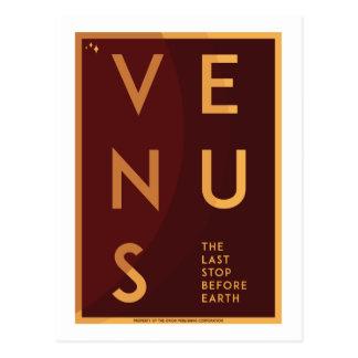 Space Travel Postcard - Venus