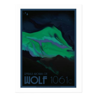 Space Travel Postcard - Wolf 1061c
