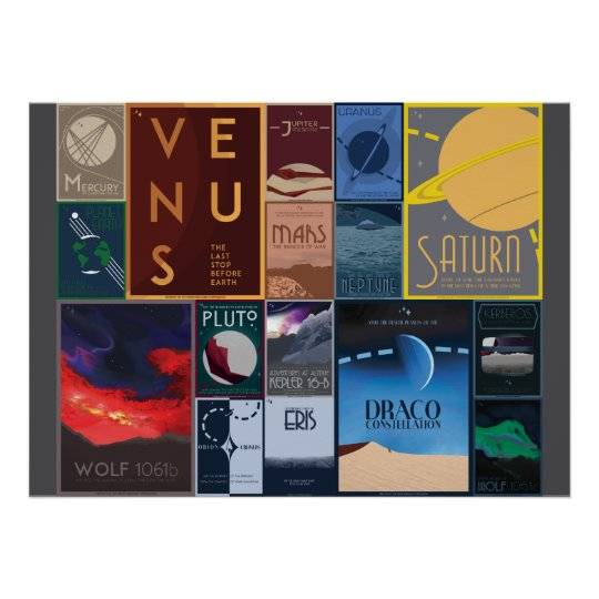 Space Travel Posters Collection