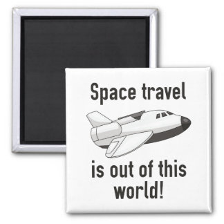 Space Travel Square Magnet