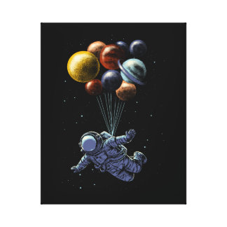 Space travel stretched canvas prints