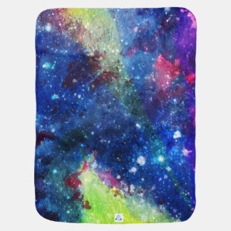 Space traveller spatial galaxy painting baby blankets