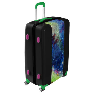 Space traveller starry sky galaxy painting luggage