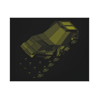 Space Truckin Black Gold Longhaul Conventional Cab Canvas Print