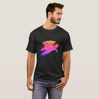 Space Turtle in pink T-Shirt