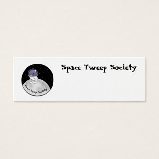 Space Tweep Logo Customizable Mini Business Card