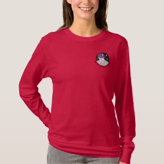 Space Tweep Society Logo with Lettering Embroidered Long Sleeve T-Shirt