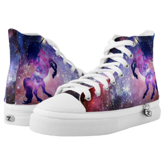 Space unicorn printed shoes