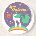 Space Unicorn Sandstone Coaster