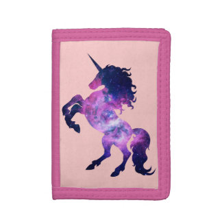 Space unicorn trifold wallet