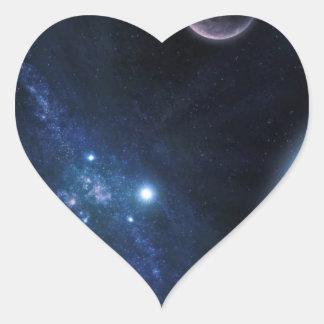 Space Universe Heart Sticker
