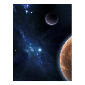 Space Universe Postcard