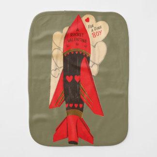 Space Valentine toddler Burp Cloth