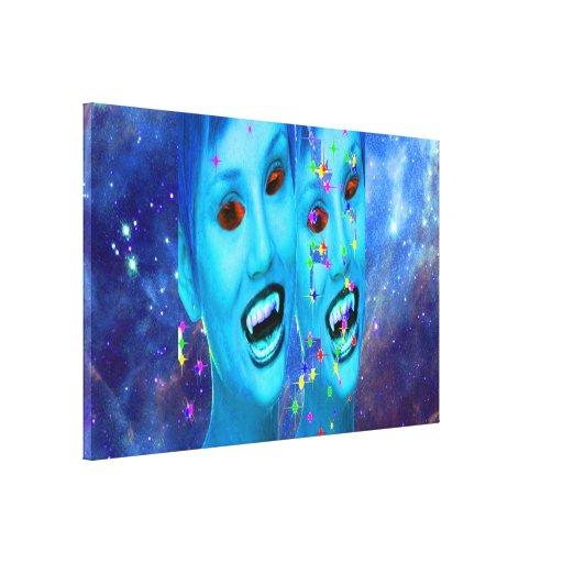 Space Vampires Gallery Wrap Canvas