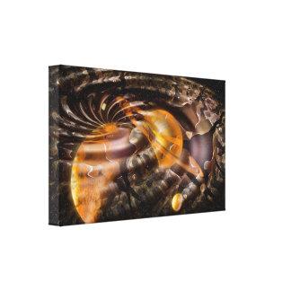 Space Warp Digital Illusion Stretched Canvas Print