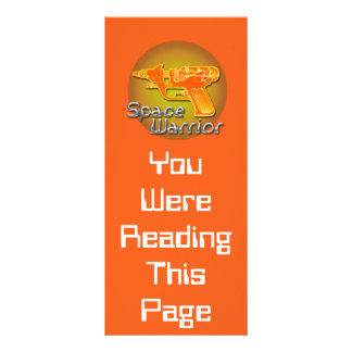 Space Warrior Bookmark Template Rack Cards