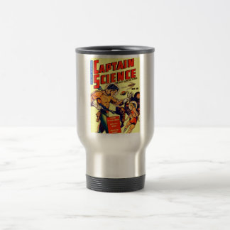 Space Warrior Vintage Science Fiction Comic Travel Mug